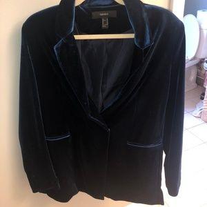 Velvet blue blazer